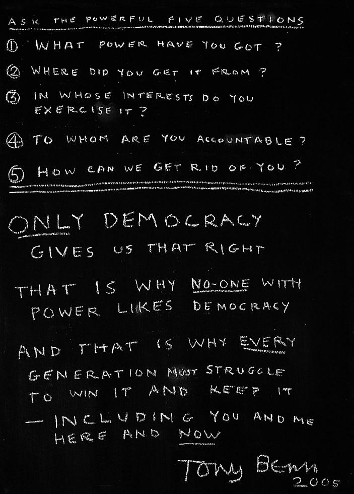 Tony Benn blackboard