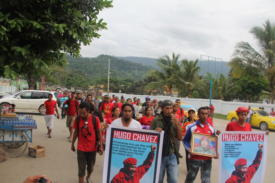 Chavez march in Timor Leste