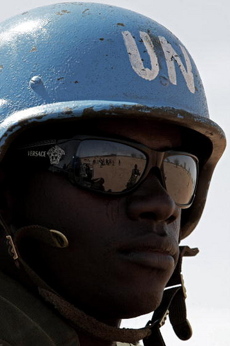 UN Keeper in Sudan - Image from the UN